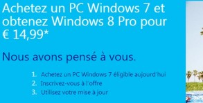Windows 8 upgrade offer