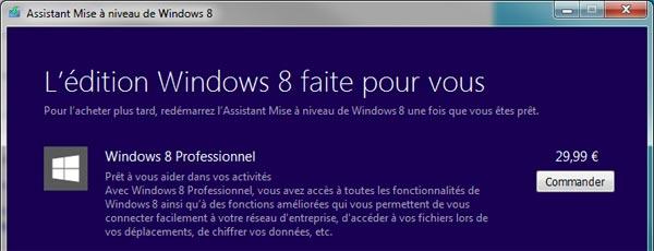 Tout le monde peut acheter Windows 8 à 30€