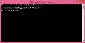 guide tutoriel utiliser le client Telnet Windows 8