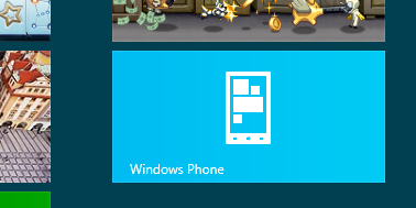 Windows phone tuile