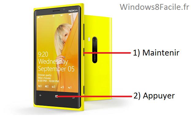 Windows phone 8 et 8 1 faire une capture d 39 cran for Photo ecran lumia 920