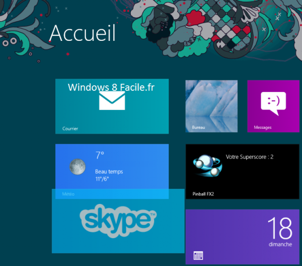 Windows 8 RT: déplacer une tuile 3