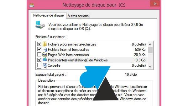 Nettoyer Windows 8 après une mise à jour depuis Windows 7