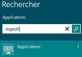 Windows8 regedit UAC mode administrateur