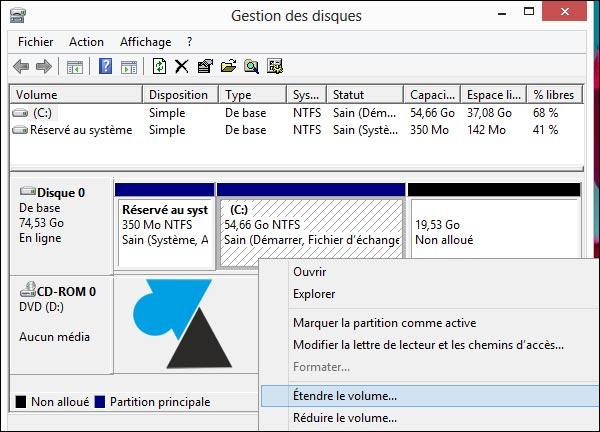 partition disque (16)