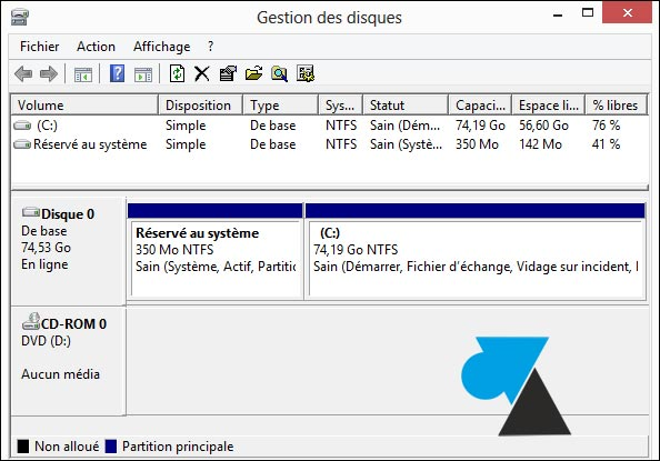 partitionnement des disques durs Windows 10 installer à partir d'usb