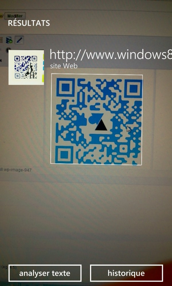 Windows 8 Facile QR code