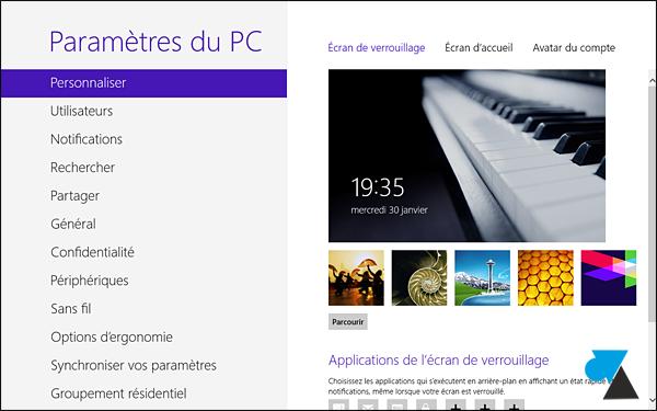 tutoriel modifier image fond ecran Windows 8