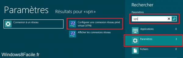 VPN Windows 8 rechercher