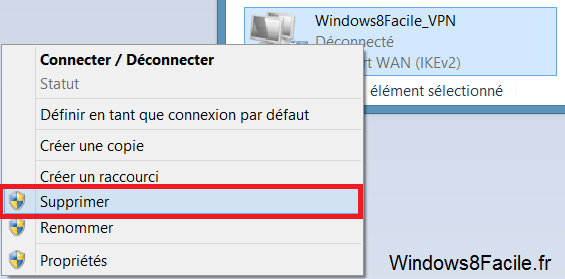 Windows 8 Supprimer VPN