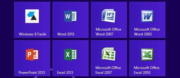 Windows 8 compatible avec Office 2013, 2010, 2007 et 2003