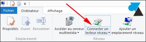 comment connecter lecteur reseau Windows 8
