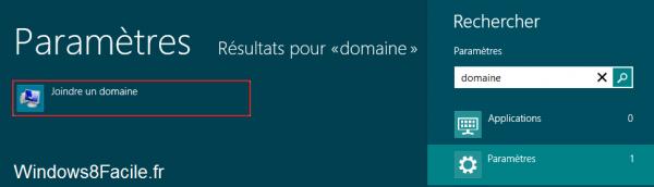 Windows 8 RT Recherche domaine