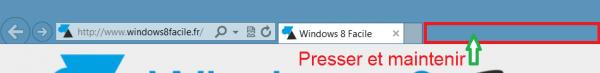 IE10 afficher menu clic droit