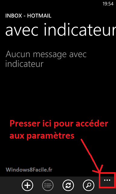 Windows Phone 8 e-mail signature, paramètres