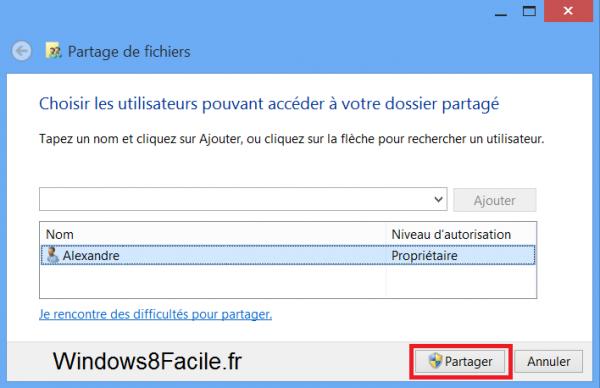 Windows 8 RT Surface partage étapes