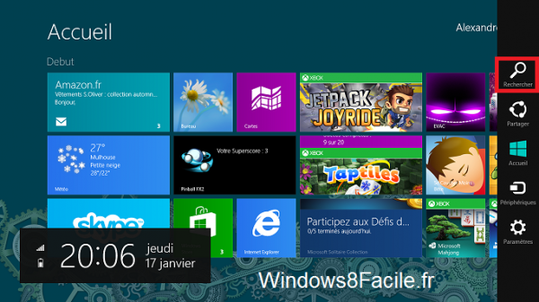Windows 8 Rechercher Services 1