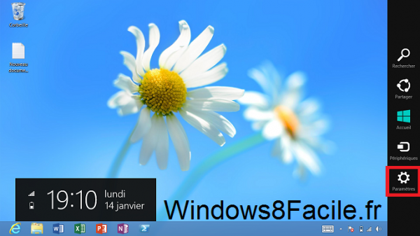 Windows 8 paramètres