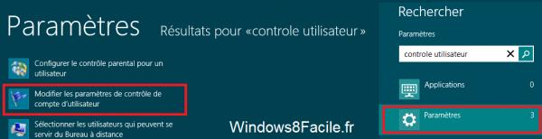 Windows 8 controle utilisateur