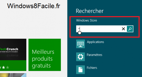 Windows Store toutes applications recherche *