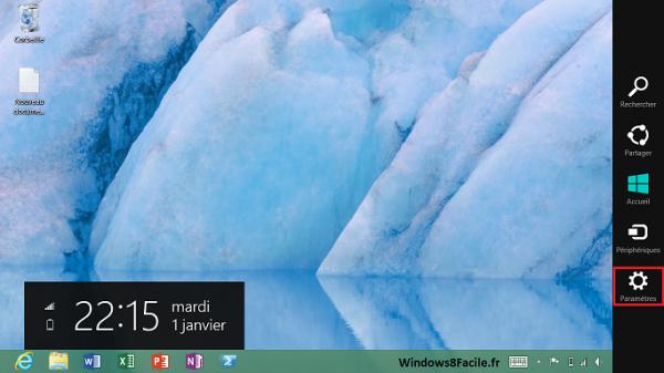 Accès Windows 8 Panneau de configuration 1/2