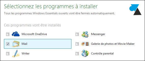 tutoriel installer Windows Live Mail