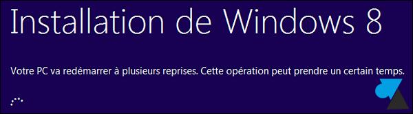 installation Window 8 sur Windows 7