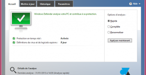 tutoriel Windows Defender antivirus logiciel Windows8