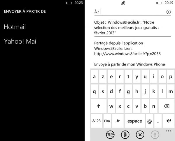 Windows8Facile envoyer email