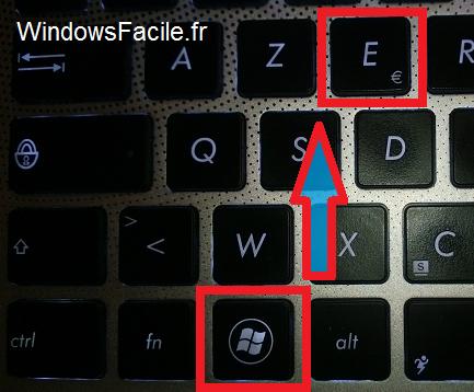 Windows 8 raccourci explorateur de fichiers