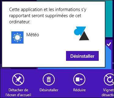 desinstaller programme Windows 8