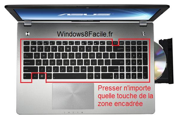 Windows 8 dévérroullage clavier