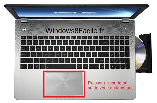 Windows 8 lockscreen déverroulage touchpad