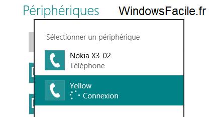 Windows 8 connexion périphérique