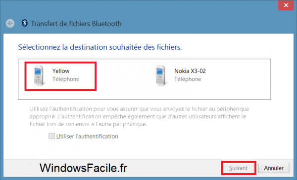 Windows 8 Bluetooth périphétriques