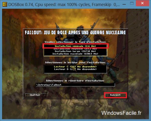 DOSBox install fallout