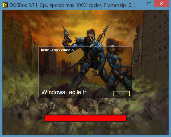 DOSBOX install finis fallout