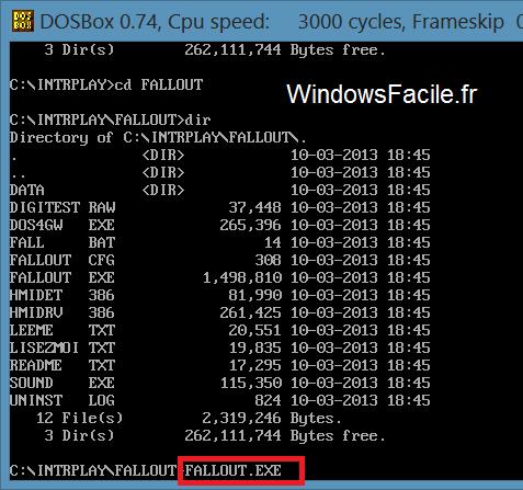 DOSBox Fallout.exe