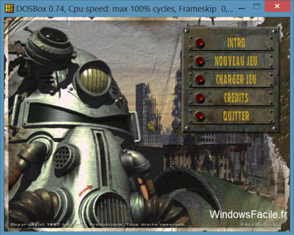 Fallout 1 menu DOS