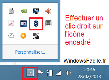 Windows 8 recevoir fichier bluetooth