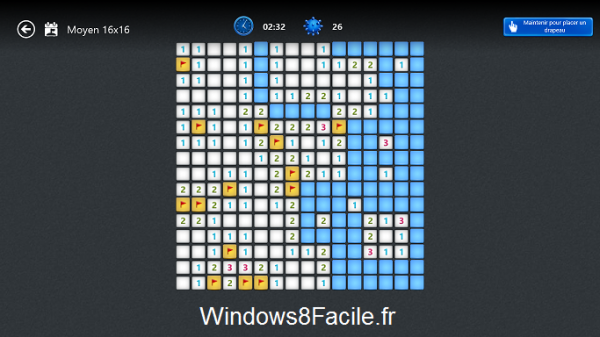Microsoft Démineur Minesweeper partie