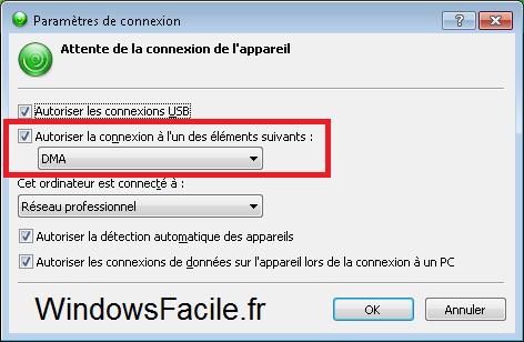 Windows 8 Gestionnaire appareil mobile