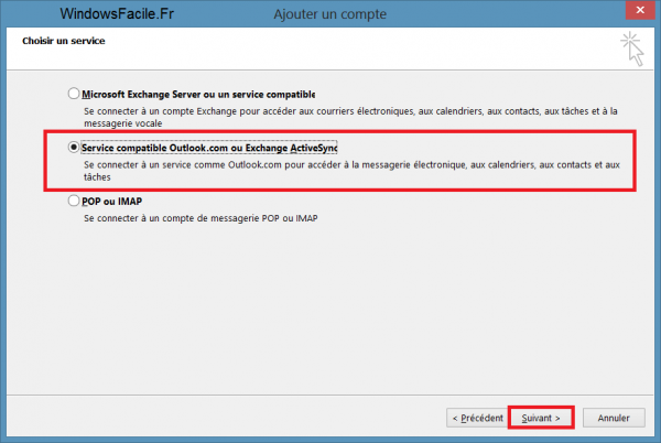 Outlook 2013 ActiveSync