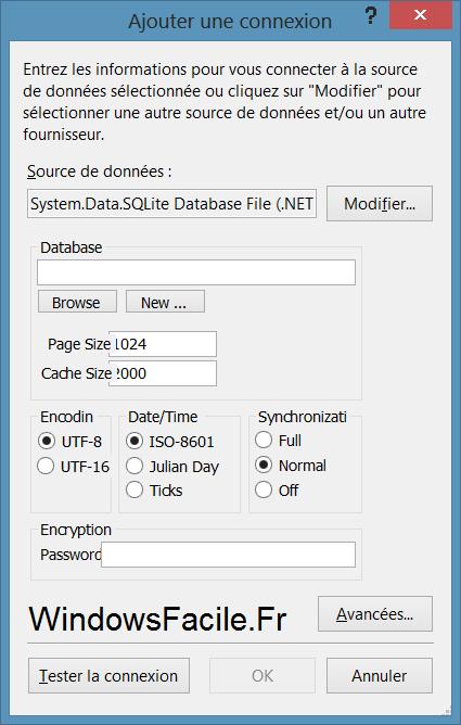 SQLite creer ou choisir