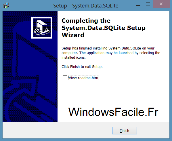 SQLite VS2012 installation fin