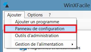 WinXFacile panneau configuration