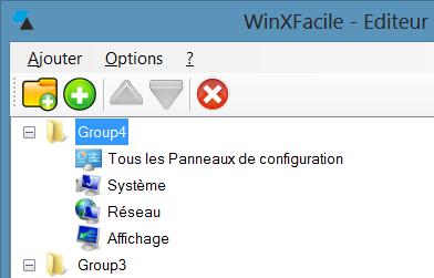 WinXFacile éléments panneau ajoutés