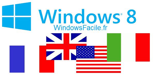 Windows 8 : changer la langue du système