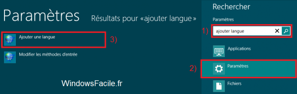 Windows 8 Ajouter langue