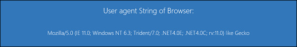 Windows Blue IE11 user agent
